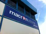 Macron sign by Impact signs Ossett