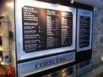 Cobblers menu board by Impact signs Ossett